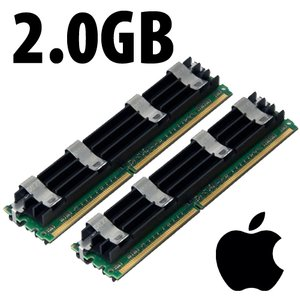 (*) 2.0GB (2 x 1GB) Apple-Major Brand OEM PC5300 DDR2 204 Pin CL5 667MHz FB-DIMM *Used / Pull*