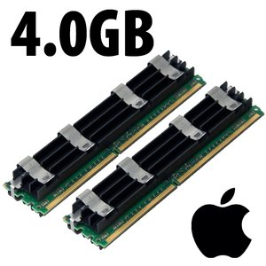 (*) 4.0GB (2 x 2GB) Apple-Major Brand OEM PC5300 DDR2 204 Pin CL5 667MHz FB-DIMM *Used / Pull*