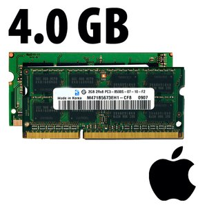 (*) 4.0GB (2x 2GB) Apple Factory Original PC8500 DDR3 204 Pin CL7 1066MHz SO-DIMM kit