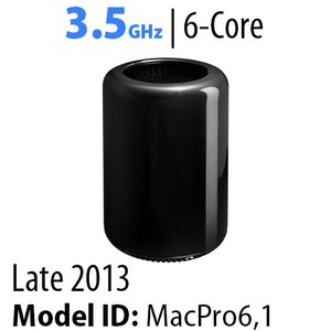 Apple Mac Pro (2013) 3.5GHz 6-Core: 16GB RAM, 256GB SSD, 2x AMD FirePro D500, Apple Refurbished
