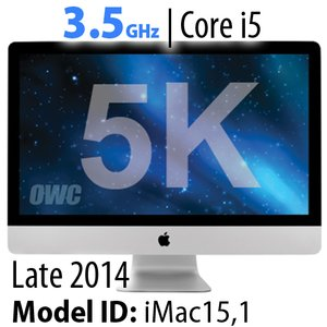 "Apple 27"" iMac (2014) 3.5GHz Core i5: Thunderbolt, 8GB RAM, 1.0TB Fusion Drive, Apple Refurbished"