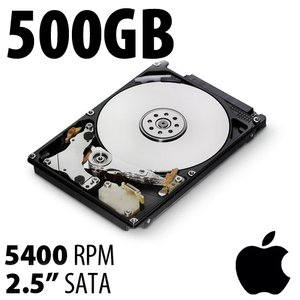 (*) 500GB Apple Genuine 2.5-inch SATA 5400RPM Hard Drive from MacBook, MacBook Pro or Mac mini.