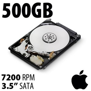 (*) 500GB Apple Genuine 2.5-inch SATA 7200RPM Hard Drive from MacBook, MacBook Pro or Mac mini.