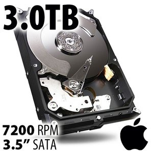 (*) 3.0TB Apple Genuine 3.5-inch SATA 7200RPM Hard Drive