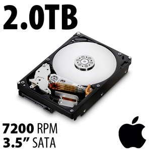 (*) 2.0TB Apple Genuine 3.5-inch SATA 7200RPM Hard Drive from Mac Pro
