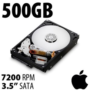 (*) 500GB Apple Genuine 3.5-inch SATA 7200RPM Hard Drive from Mac Pro