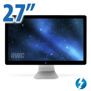 Apple Thunderbolt Display 27-inch LED-backlit monitor up to 2560 x 1440 connects via Thunderbolt