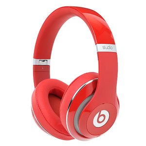 Apple Beats Studio2 Wireless Over Ear, Adaptive Noise Cancelling Headphones *Top of the Line* Color: Red