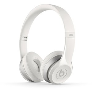 Apple / Beats by Dr. Dre Solo 2 headphones - White. *Factory Refurbished*