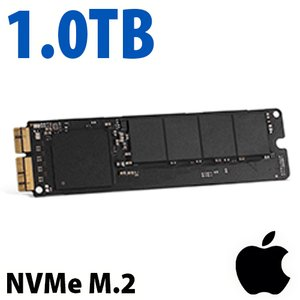 (*) Apple Genuine 1.0TB Apple Factory PCIe Blade NVMe SSD for 2013 to 2019 Mac Pro includes factory heatsink