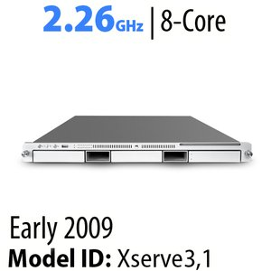 "Apple Xserve 2.93GHz 8-Core ""Early 2009"" 12GB DDR3, 160GB HDD x2, SuperDrive, GT120 Video."