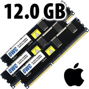 (*) 12.0GB (3x 4GB) Mac Pro Early 2009 Memory Matched Set PC-8500 1066MHz DDR3 ECC-R *USED*