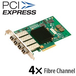 ATTO Celerity FC-84EN Quad-Channel 8Gb/s Fibre Channel PCIe 2.0 Host Bus Adapter. LC SFP+ Interface