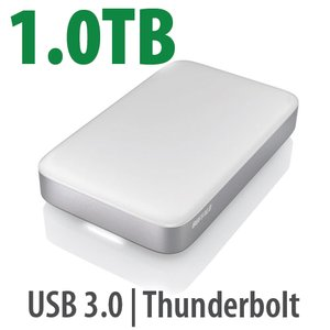 1.0TB Buffalo MiniStation Thunderbolt & USB 3.0 Bus-Powered Portable Storage Solution