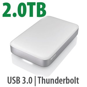 2.0TB Buffalo miniStation<BR> Thunderbolt/USB3 Portable