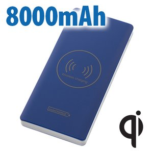 Calitronics instaCHARGE 8000mAh Fast-Charge, Dual-USB + Qi Wirelsss. Lightning + USB Micro Cable Included