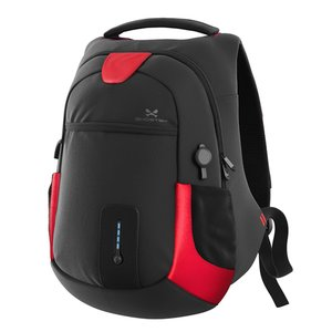 Ghostek NRGbag - Red, Laptop Backpack with Battery System