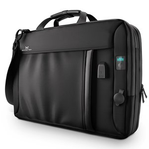 Ghosted NRGMessenger Series Bag - Black, Laptop Backpack with Battery System