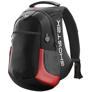 Ghostek NRGbag 2 - Red, Laptop Backpack with Battery System