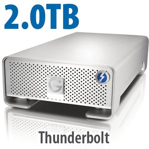 2.0TB G-Technology G-DRIVE PRO Thunderbolt for Mac - Slim Size 4-Drive Array, up to 480MB/s!