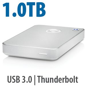 1.0TB G-Technology G-DRIVE mobile with Thunderbolt: Portable Thunderbolt and USB 3.0 Hard Drive.