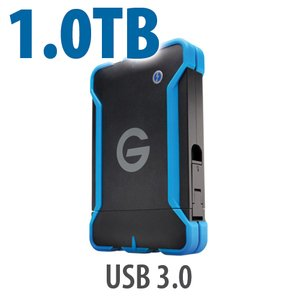 1.0TB G-Technology G-DRIVE ev ATC: Rugged and Watertight USB 3.0 Hard Drive.