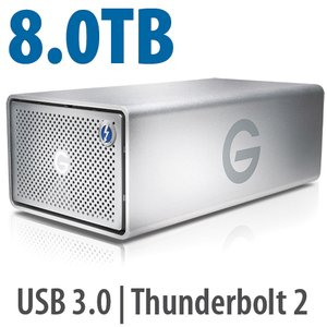 8.0TB G-Technology G-RAID Enterprise-Class with Thunderbolt 2.