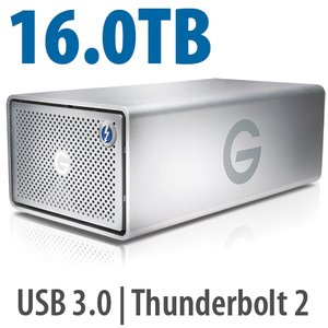16.0TB G-Technology G-RAID Enterprise-Class with Thunderbolt 2.