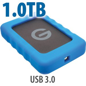 1.0TB G-Technology G-DRIVE ev RaW: Rugged and Lightweight USB 3.0 Hard Drive.