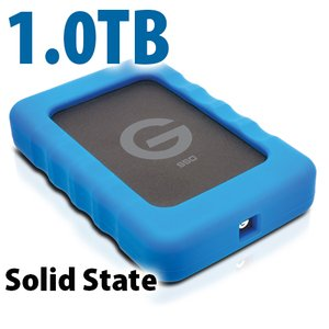 1.0TB G-Technology G-DRIVE ev SSD RaW: Rugged and Lightweight USB 3.0 Solid State Drive.