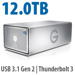 12.0TB G-Technology G-RAID with Thunderbolt 3