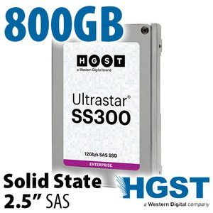 800GB HGST UltraStar SS300 2.5-inch SAS 12Gb/s Enterprise Class Solid-State Drive (SSD)
