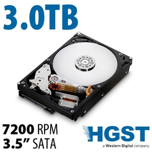 (*) 3.0TB HGST Deskstar 7K3000 3.5-inch SATA 6.0Gb/s 7200RPM Hard Drive with 64MB Cache. *Used*