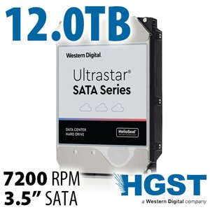 (*) 12.0TB HGST Ultrastar SATA Series 3.5-inch SATA 6.0Gb/s 7200RPM Enterprise Class Hard Drive