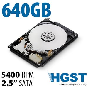 "640GB HGST Travelstar 2.5""<BR>Serial-ATA 9.5mm Hard Drive"