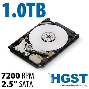 1.0TB HGST Travelstar 7K1000 2.5-inch 9.5mm SATA 3.0Gb/s 7200RPM Hard Drive