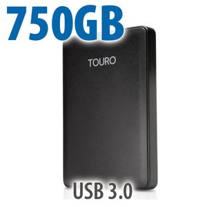 750GB USB 3.0/2.0 Bus-Powered HGST Touro Mobile MX3 Portable Drive