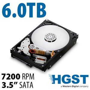 6.0TB HGST NAS 7200RPM<BR>High-Performance w/128MB