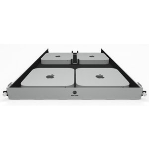 H-Squared Mini rack for Mac mini - Allows you to rack mount 4 Mac minis (2010-2018 Models)