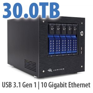 30.0TB OWC Jupiter mini 5-bay Desktop NAS