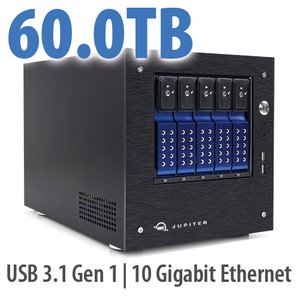 60.0TB OWC Jupiter mini 5-bay Desktop NAS