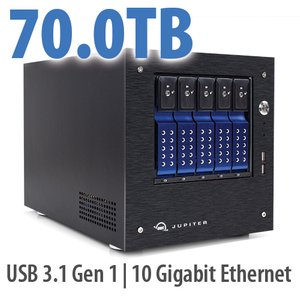 70.0TB OWC Jupiter mini 5-bay Desktop NAS