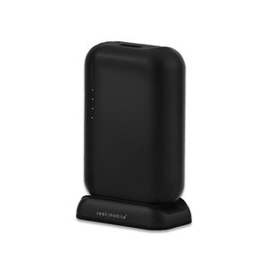 Just Mobile TopGum Portable High-Capacity Backup Battery for iPod, iPhone, iPad & USB-Powered Devices - Black