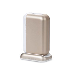 Just Mobile TopGum Portable High-Capacity Backup Battery for iPod, iPhone, iPad & USB-Powered Devices - Gold