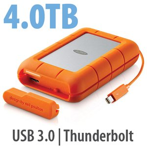 LaCie 4.0TB Rugged RAID Portable Storage
