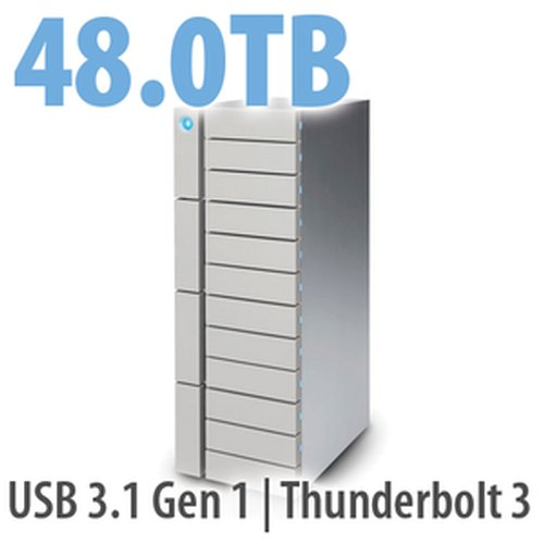 48.0TB LaCie 12big Thunderbolt 3, 12-Bay Desktop RAID Storage