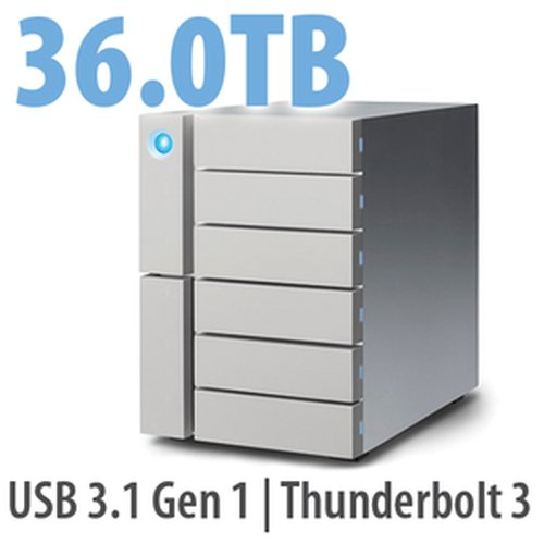 36.0TB LaCie 6big Thunderbolt 3, 6-Bay Desktop RAID Storage