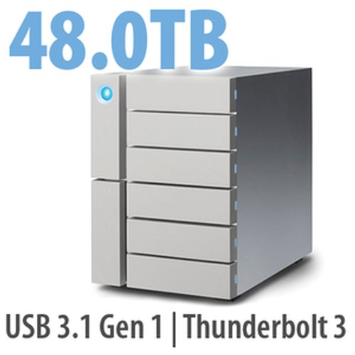 48.0TB LaCie 6big Thunderbolt 3, 6-Bay Desktop RAID Storage