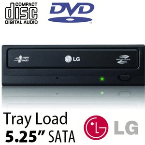 LG 'Super-MultiDrive' DVD DL/CD, SATA Internal - Up to 24X DVD, 48X CD *Bundle w/Labeling Software*