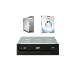 LG Blu-ray up to 16X Blu-ray, 16X DVD, 24X DVD+/-R, and 48X CD Burn Speeds + w/Toast 15 HD